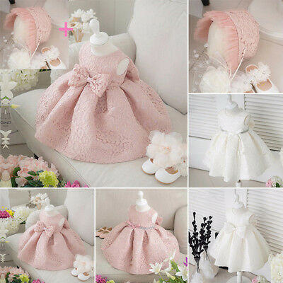 Flower Dress Princess Occasion Prom Baby Girls Party Wedding Christening Sequin