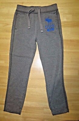 Kids Abercrombie gray/blue sweat pants, size small