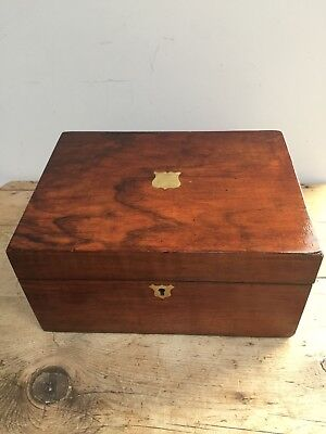 Antique Mid 20Th C Mahogany Writing Slope /  Box
