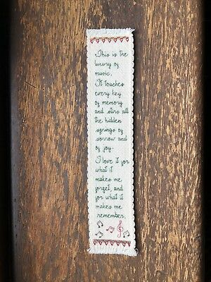 Musical Quote Cross Stitch Bookmark