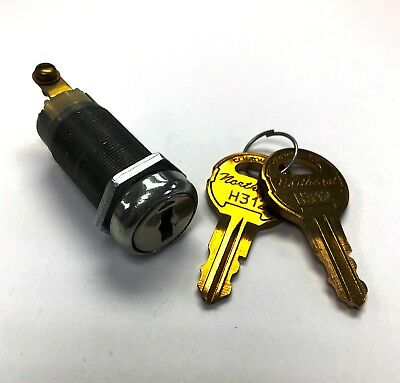 Momentary Spring Return Screw Terminal On-off Key Switch Lock for Access Control
