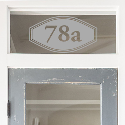 Door Number Fanlight Frosted Glass House Number Victorian House Window Oval