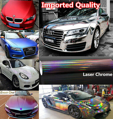 Metallic Pearl Chameleon 3D 4D 5D 6D Carbon Fiber Chrome Car Wrap Film Vinyl