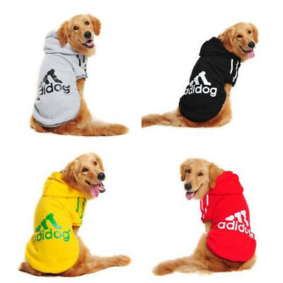 Winter Warm Casual Adidog Hoodie Pattern Clothing For Large Dog