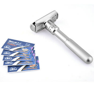 Men's Traditional Classic Double Edge Shaving Safety Razor Shaver+5 Blades Free