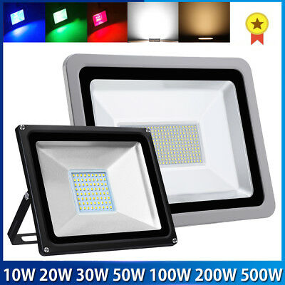 10/20/50/100/150W LED Security Floodlight RGB 16 Color Changing Garden Lighting