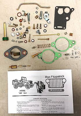Jeep 1946-49 Willys CJ2A 647745K Carter WO Carburetor Rebuild kit  G503
