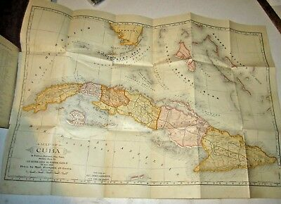 (1897) Map and History of Cuba by Lieut E Hannaford
