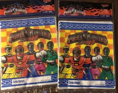 Birthday Party Supplies Treat Loot POWER RANGERS FAVOR BAGS 40