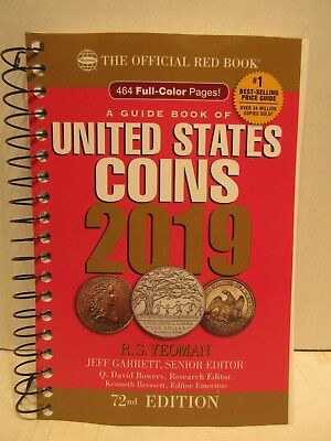2019 Official Red Book A Guide Book Of United States Coins Softcover 72nd