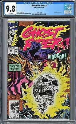 Ghost Rider (1990 2nd Series) #33 CGC WHITE Pages