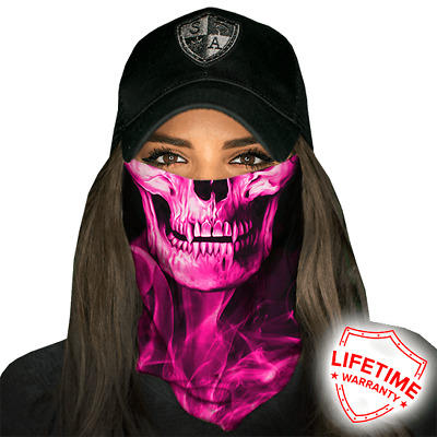 Skull Tech Pink Crow Faceshield von SA Company