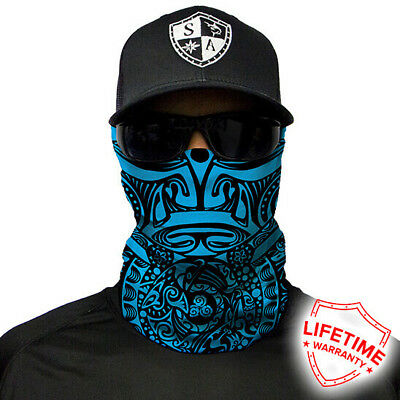 Polynesian Tribal Blue Faceshield von SA Company