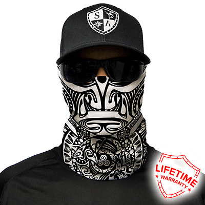 Polynesian Tribal Black&White Faceshield von SA Company