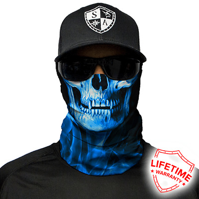Skull Tech Blue Crow Faceshield von SA Company