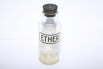 1930's? Medical or Wet Plate Collodion Ether Bottle with Stopper
