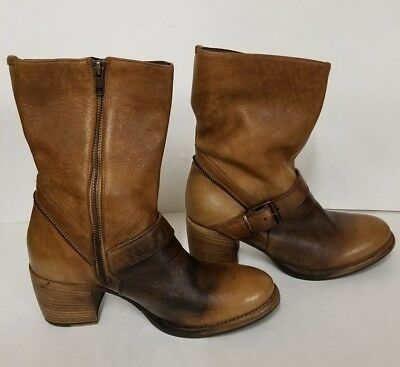 Patricia Nash Womens Boot Lombardy Italian Leather Tan Mid-Calf All Sizes $298
