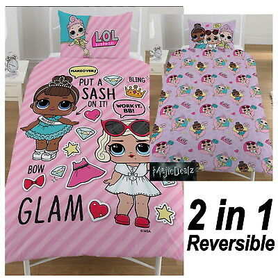 Lol Surprise Single Duvet Cover Set Reversible Kids Girls - *in Stock*