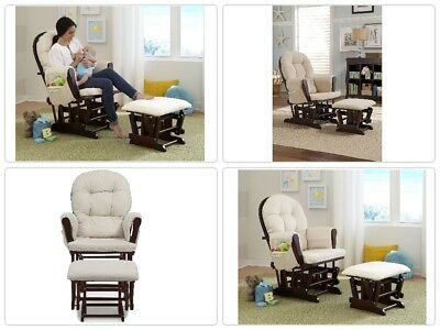 Fantastic Baby Nursery Glider Rocker Ottoman Rocking Chair Espresso Gmtry Best Dining Table And Chair Ideas Images Gmtryco