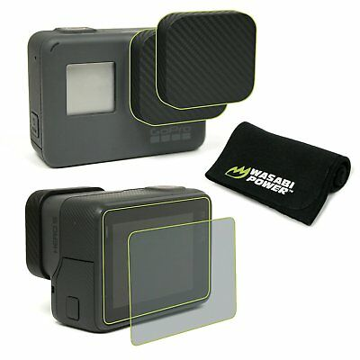 Wasabi Power Screen Protector (2-Pack) and Lens Cap for GoPro HERO6/HERO5/HERO 2
