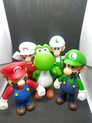 """Super Mario Bros 5"""" BANPRESTO Movable Action Figures 5 Different Characters"""