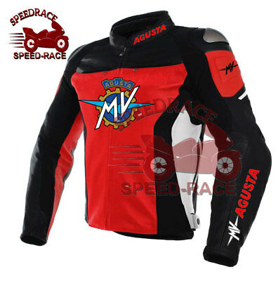 New Motorbike MV Agusta Brutale Motorcycle racing leather MV Brutale jacket red
