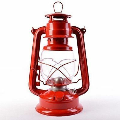 New 19cm Red Retro Oil Lantern Outdoor Camping Kerosene Paraffin Hurricane Lamp