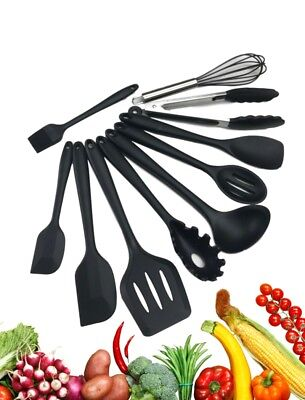 Complete Silicone Kitchen Utensil Set 10 piece Durable and Non-Stick