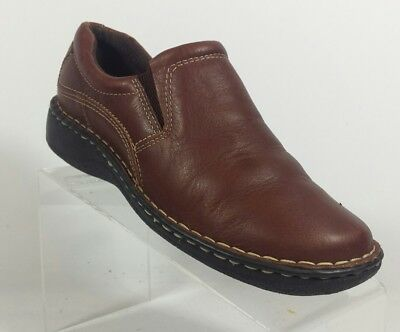 b1c9372a0c90 Thom Mcan Women s 8.5 Casual Loafers Slip on Comfort Shoes Brown Leather  (Inv C)