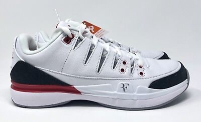 1c91ee2ea6e472 Nike Men s Zoom Vapor RF X AJ3 Roger Federer Size 9 White Fire Red 709998  106