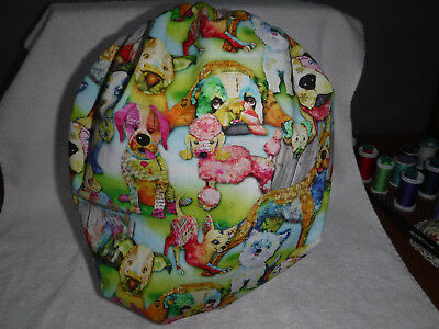 Bouffant surgical scrub hat cap medical chef dogs spring green pink white