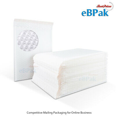 Poly Bubble Mailer Padded Bag 01 160x230mm A5 C5 White Plastic Envelope