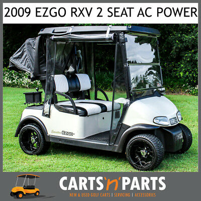 EZGO RXV 2009 Golf Cart Buggy AC MOTOR Electric Brake White 2 Seat with Brand Ne