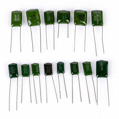 1600V 360pf~10nf 14 values 140pcs CBB metal film capacitors Assortment Kit