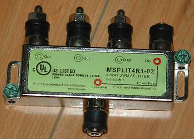 New Directv MSPLIT4R1-02 4-Way Wide Band SWM Splitter 2-2150 MHz