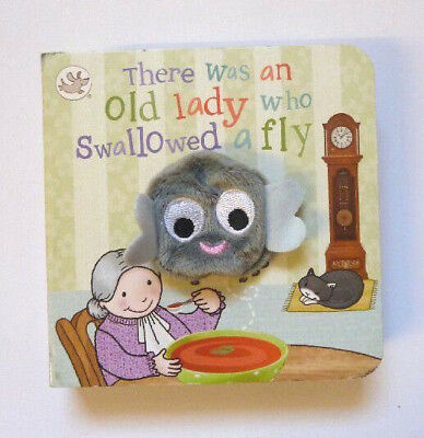 There Was An Old Lady Who Swallowed a Fly Puppet Book, For Kids Ages Babies-4 yr