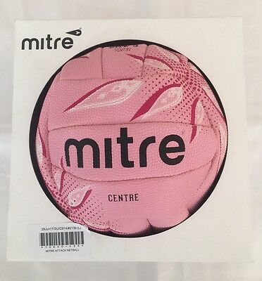 New Mitre Attack Netball Size 5 Pink