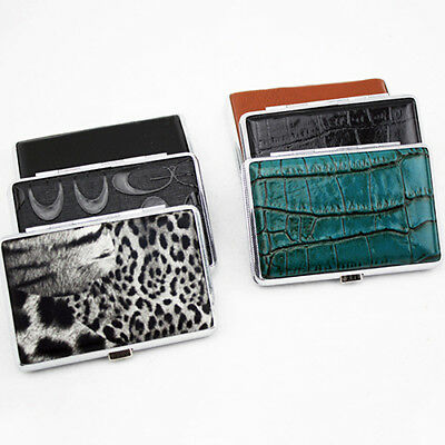 FX- Metal Faux Leather Top Hold A Pack 14Pc Cigarette Hard Box Case Holder Dream