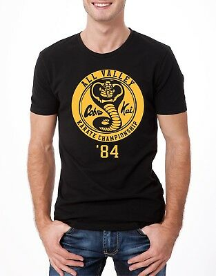 Cobra Kai T Shirt The Karate Kid Strike First No Mercy Classic Movie Men Tee b2