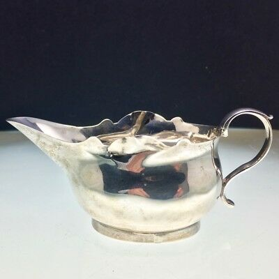 18th Century Georgian Solid Silver Sauce Boat William Sudell C1780