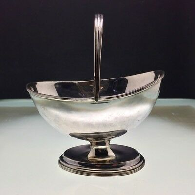 1800 Georgian Sheffield Plated Sugar Footed Bowl with Handle