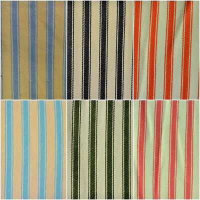 CANVAS Ticking Stripe100/% cotton  fabric  112cm wide sold per 1//2 metre