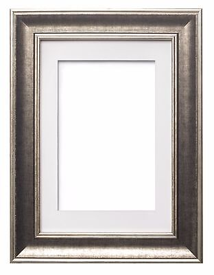 Shabby Chic Picture Frame SC Photo / Poster Frame With Mount GUNMETAL DISTRESSED