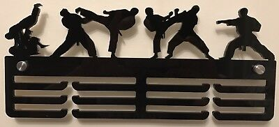 Thick 5mm Acrylic 3 Tier MARTIAL ARTS /KARATE/ JUDO Medal Hanger / Holder