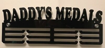 5mm Thick Acrylic 3 Tier DADDY'S MEDALS  Medal Hanger / Holder  IDEAL GIFT