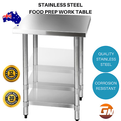 430 Stainless Steel Restaurant Commercial Kitchen Food Prep Work Bench Table