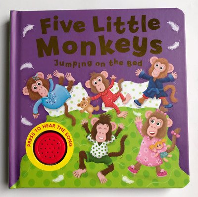 Five Little Monkeys Sound Book Babies Ages 6 Months+ Birthday Gift New!!