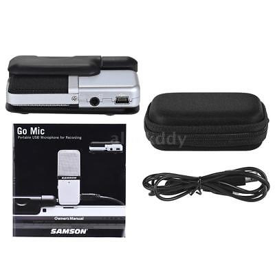Samson Go Mic Portable Clip-on USB Condenser Microphone Portable for PC S8B5