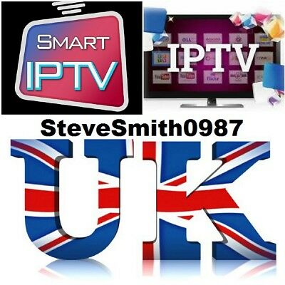 1 MONTHS IPTV SUBSCRIPTION + vod boxsets MAG BOX ANDROID SMART TV UK