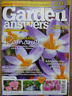 Garden Answers Magazine - February 2018 in Excellent Condition